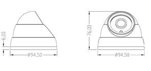 Антивандальная широкоугольная AHD камера, 2 Мегапикселя SONY, 1080P, ИК подсветка 20м. - фото 4162