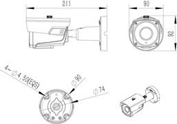 Уличная AHD камера 5 Мегапикселей с объективом 2.8-12 мм, ИК-подсветка 60 м. - фото 4201
